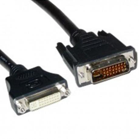 Cable DVI-I macho a DVI-I hembra de 10 m