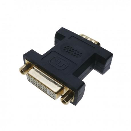 Adaptador DVI-I hembra a VGA macho de 15-pin