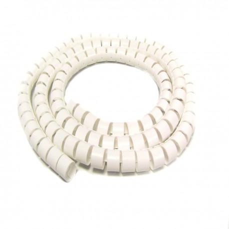 Organizador de cables. Funda blanca con clip de 20-25 mm longitud 25 m