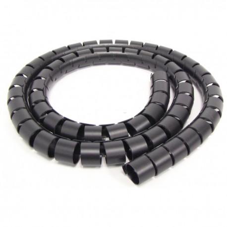 Organizador de cables. Funda negra con clip de 15-20 mm longitud 10 m