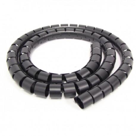 Organizador de cables. Funda negra con clip de 20-25 mm longitud 10 m