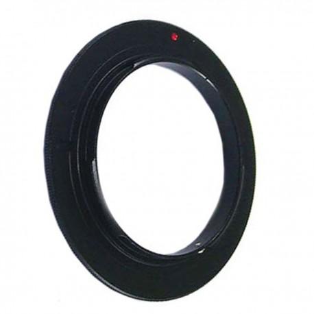 Anillo de rosca a conector macho de objetivo Nikon de 62mm