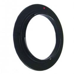 Anillo de rosca a conector macho de objetivo Canon EOS de 62mm