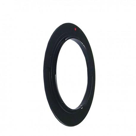 Anillo de rosca a conector macho de objetivo Canon EOS de 77mm