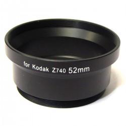 Tubo adaptador para objetivo Kodak Z740 52mm