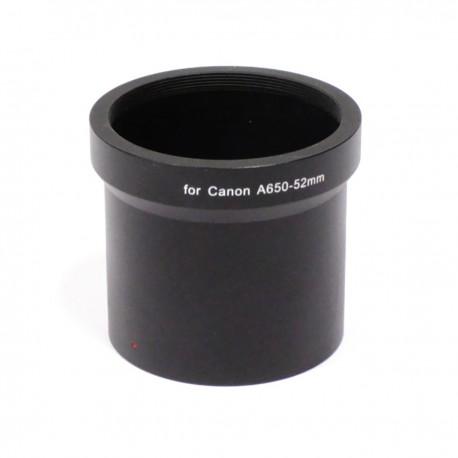 Tubo adaptador para objetivo Canon A650 52mm