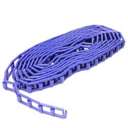 Cadena de plástico azul para enrollador de fondos de estudio fotográficos