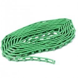 Cadena de plástico verde para enrollador de fondos de estudio