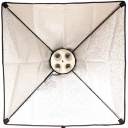 Foco de luz continua con softbox 60x60cm 4xE27