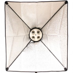 Foco de luz continua con softbox 50x70cm 4xE27