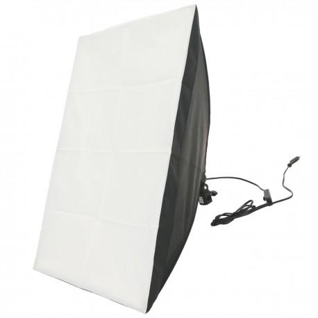 Foco de luz continua con softbox 50x70cm 1xE27