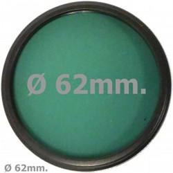 Filtro fotografia verde para objetivo de 62 mm
