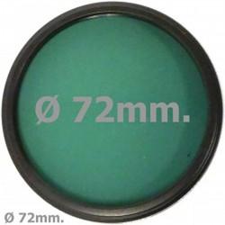 Filtro fotografia verde para objetivo de 72 mm