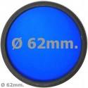 Filtro fotografia azul para objetivo de 62 mm