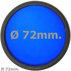 Filtro fotografia azul para objetivo de 72 mm