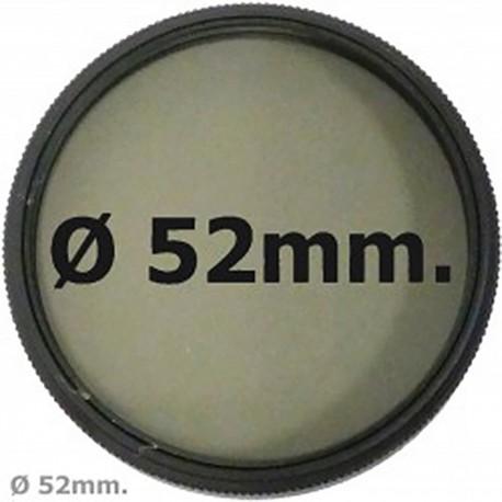 Filtro fotografia CPL polarización circular para objetivo de 52 mm