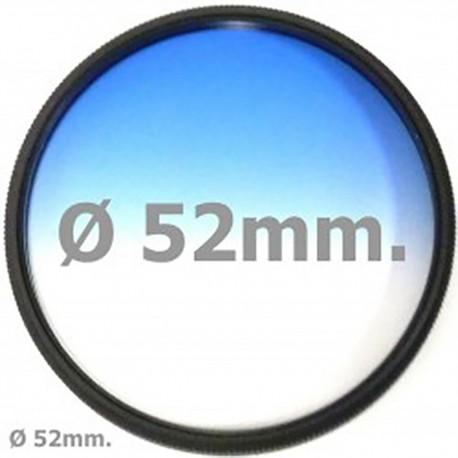 Filtro fotografia color gradual azul para objetivo de 52 mm