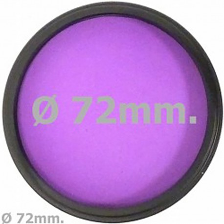 Filtro fotografia luz de fluorescente FLD para objetivo de 72 mm