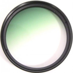 Filtro fotografia color gradual verde para objetivo de 52 mm