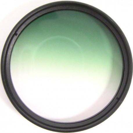 Filtro fotografia color gradual verde para objetivo de 58 mm