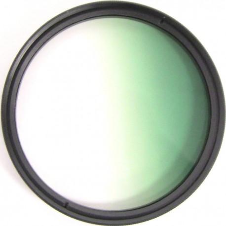 Filtro fotografia color gradual verde para objetivo de 62 mm