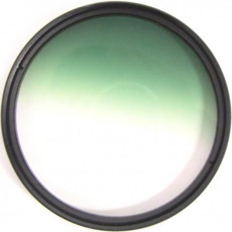 Filtro fotografia color gradual verde para objetivo de 72 mm