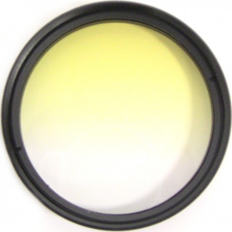 Filtro fotografia color gradual amarillo para objetivo de 52 mm
