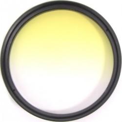 Filtro fotografia color gradual amarillo para objetivo de 62 mm
