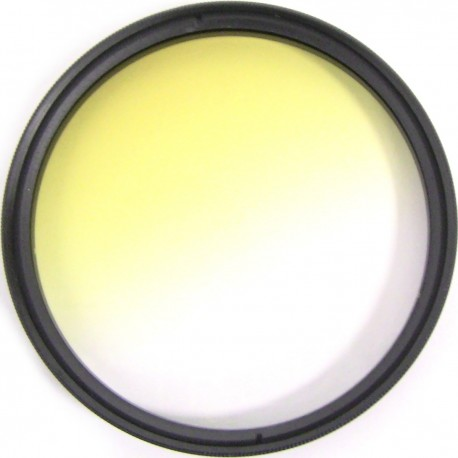 Filtro fotografia color gradual amarillo para objetivo de 67 mm