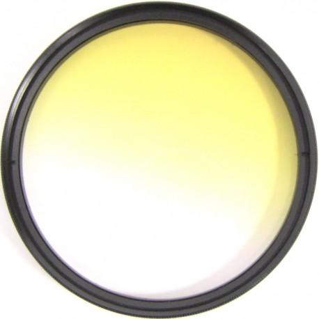 Filtro fotografia color gradual amarillo para objetivo de 72 mm