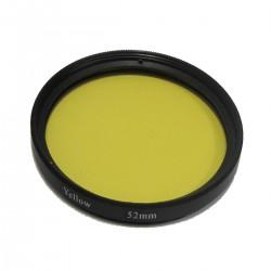 Filtro fotografia amarillo para objetivo de 52 mm