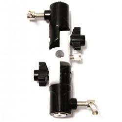 """Rótula articulada para sujección de paraguas o reflector y con espitas de 1/4"""" y 3/8"""""""