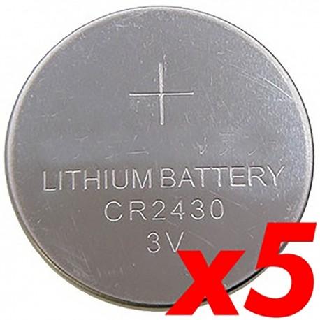 Pila litio botón 3V CR2430 5 unidades
