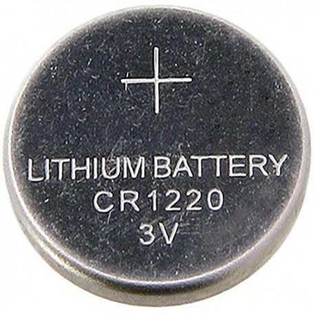 Pila litio botón 3V CR1220.