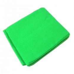 Fondo de tela de 180x300 cm de color cromakey verde