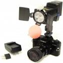 Antorcha profesional 4 LED de 1450 lux con batería Sony F750