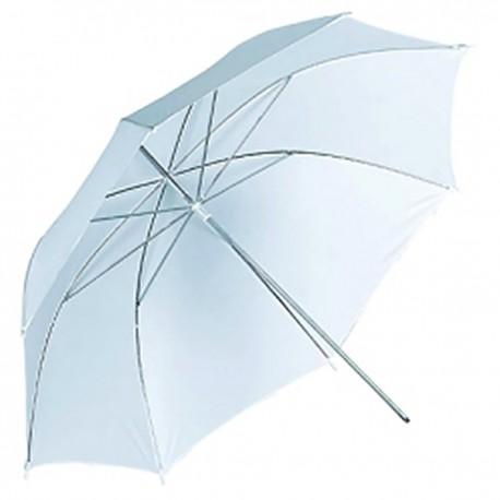 Paraguas difusor blanco translúcido de 101 cm