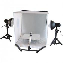 Maleta de estudio fotográfico portátil de 50cm con focos y trípode B