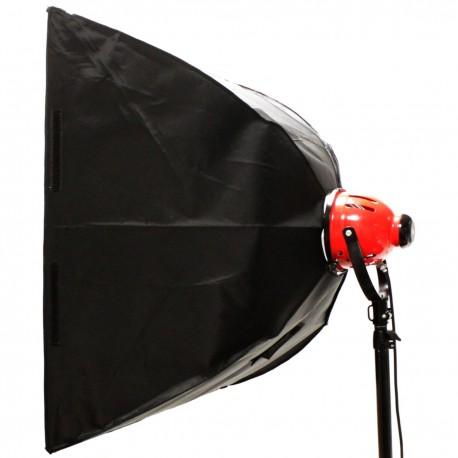 Campana reflectora softbox de 80x80cm para foco de tungsteno de 800W