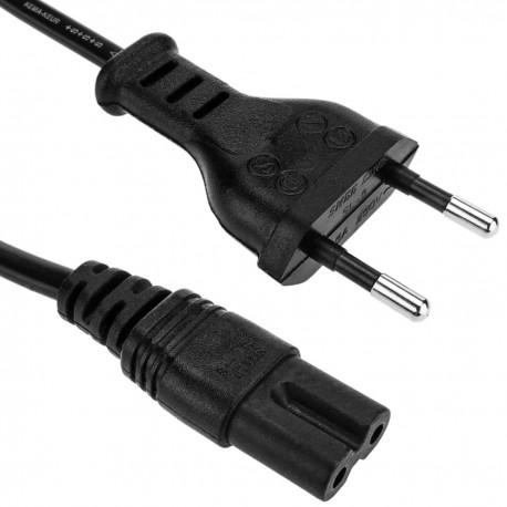 Cable Alimentación IEC-60320 0.2m (C7 / Bipolar-M)