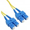 Cable de fibra óptica SC a SC monomodo duplex 9/125 de 50 cm OS2