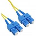 Cable de fibra óptica SC a SC monomodo duplex 9/125 de 25 m OS2