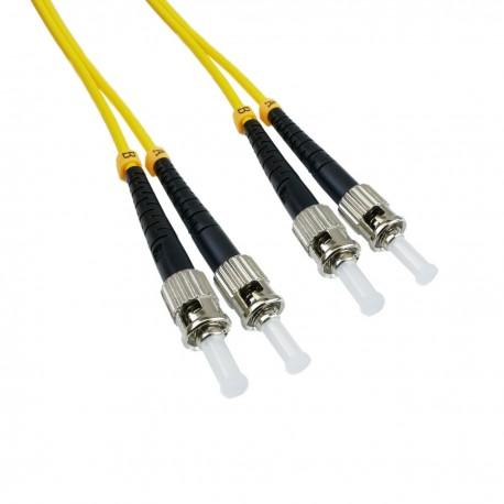 Cable de fibra óptica ST a ST monomodo duplex 9/125 de 2 m OS2