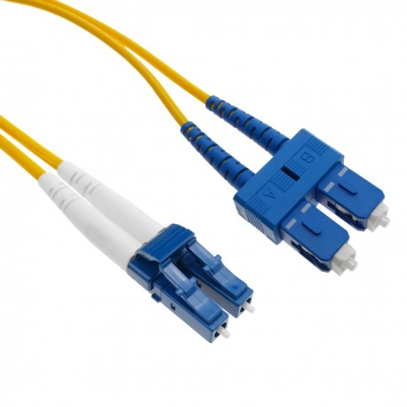 Cable de fibra óptica LC a SC monomodo duplex 9/125 de 15 m OS2