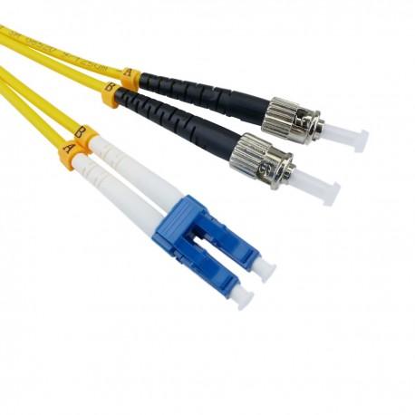 Cable de fibra óptica LC a ST monomodo duplex 9/125 de 5 m OS2