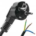 Cable de alimentación eléctrico H05VV-F 5m de enchufe schuko a bornes 3x1.50mm²