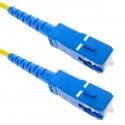 Cable de fibra óptica SC a SC monomodo simplex 9/125 de 3 m OS2