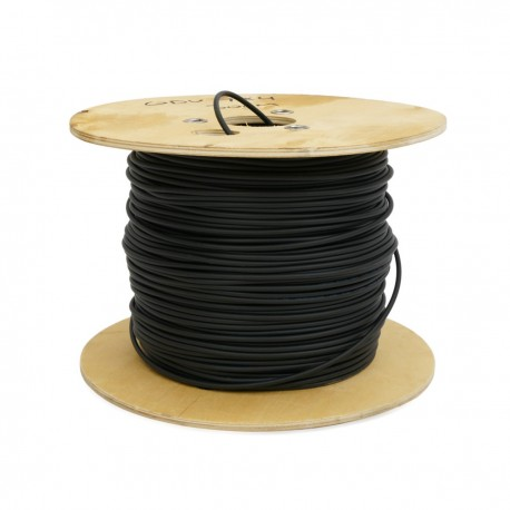 Bobina de fibra óptica 9/125 monomodo 6 fibras exterior de 100 m OS2