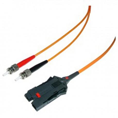 Cable de fibra óptica FDDI a ST multimodo duplex 62.5/125 de 10 m