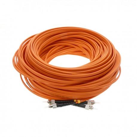 Cable de fibra óptica ST/PC a ST/PC multimodo duplex 50/125 de 75m OM2